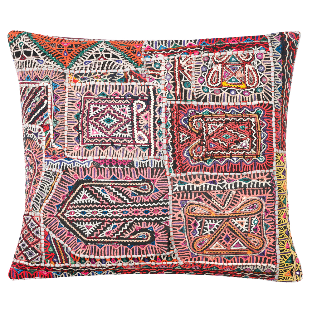 hand embroidered vintage cushion