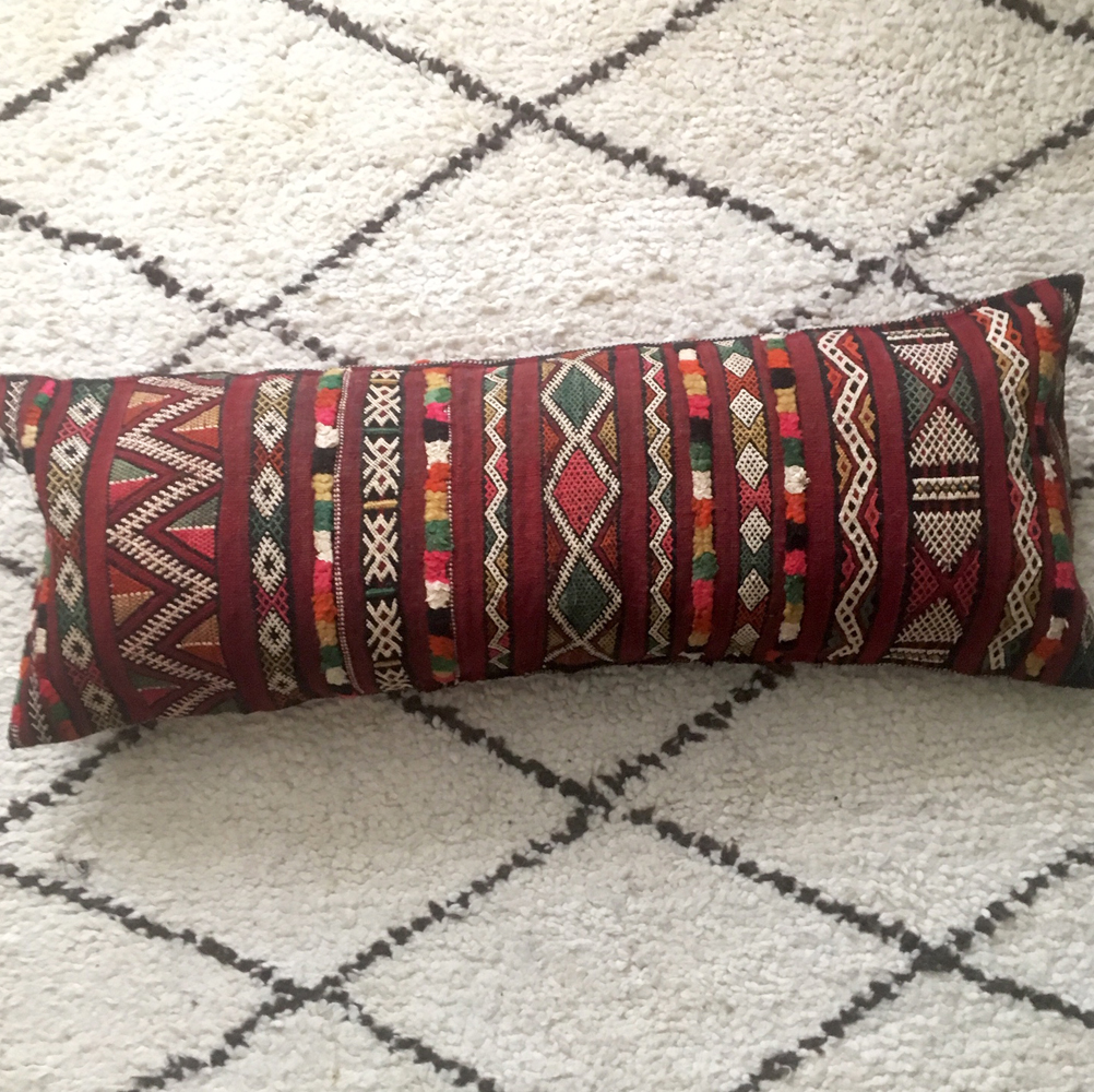 kilim bolster cushion